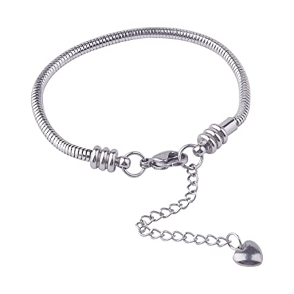Good Timeline Treasures Charm Bracelet Stainless Steel Snake Chain Women 7.5 In Claw Charms & Charm Bracelets