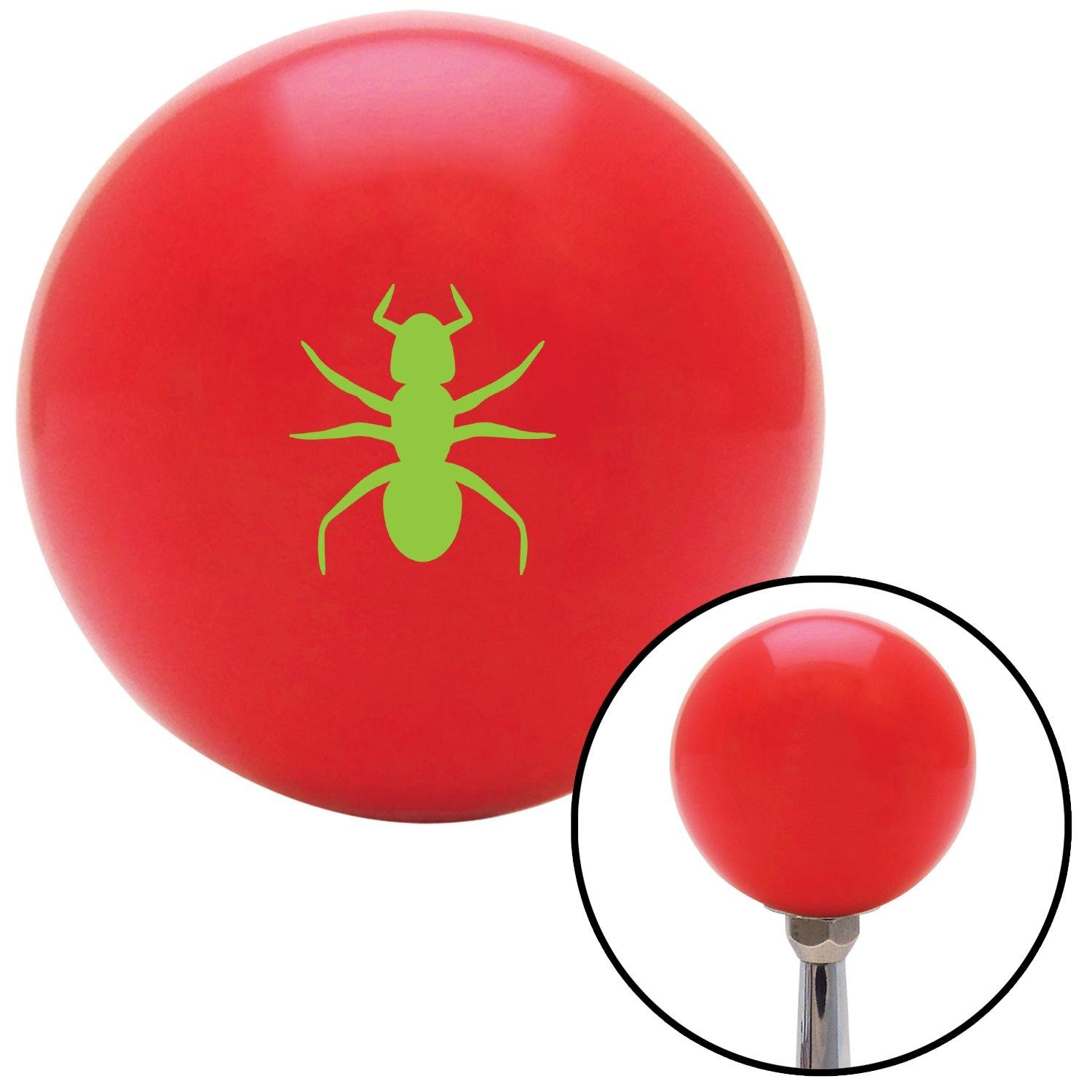 ASCSNX1592174 Green Ant Red with M16 x 1.5 Insert American Shifter 271142 Shift Knob