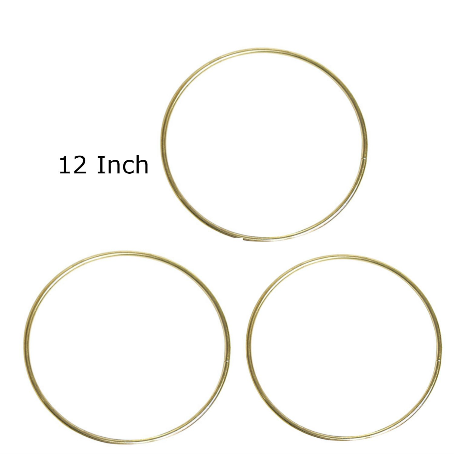 Pepperell Macrame Rings Brass Plated Bundle of 3 Rings (14) Pepperell Braiding Co.