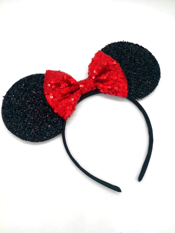 Red Mickey Ears, Rainbow Minnie Mouse Ears, Sparkly Minnie Ears, Mouse Ears, Electrical Parade Ears by ZIYAN