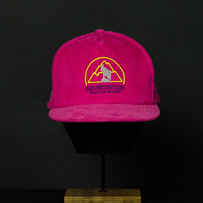beaaa099343 Amazon.com  Vintage Ski Resort Hat - Big Mountain Cord Pink  Clothing