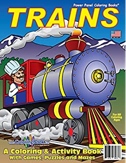 Trains Coloring Book 85x11