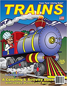 trains coloring book 85x11 coloringbookcom really big coloring books 9781935266273 amazoncom books - Big Coloring Books