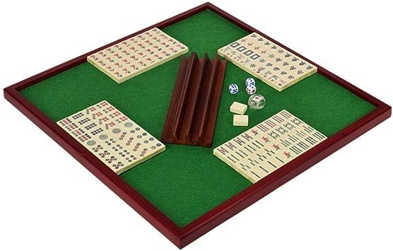 Juego de Mahjong portátil Chino Antiguo Mini Juegos de Mahjong Juegos caseros Mini Mahjong Chino Divertido Juego de Mesa de Mesa Familiar (Color : A) : Amazon.es: Juguetes y juegos