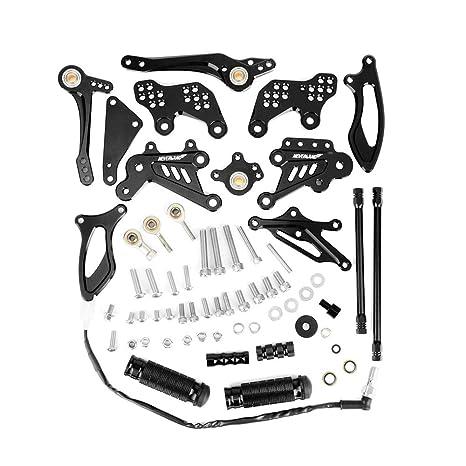 CNC Rearsets Rear Set Pegs For Honda CBR1000RR 04-07 CBR600RR 03-06 Multi-Color