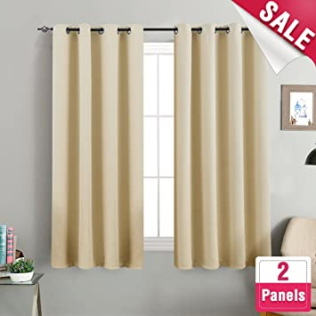 Amazoncom Room Darkening Curtains For Living Room 63 Inches Long