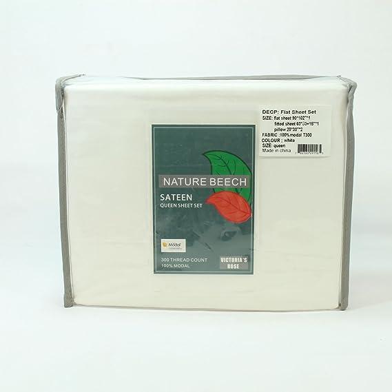 A + calidad arruga libre 4 PC cama juego de sábanas a + marca de la victoria rosa Material de la mejor 100% Modal, 1 sábana bajera ajustable + 1 hoja plana ...