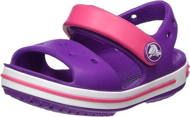 Crocs Kids' Crocband Sandal, Purple, C4,Crocs,12856