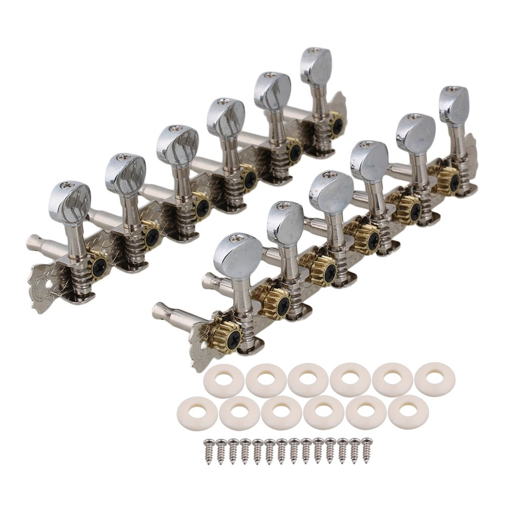 BQLZR Chrome 12 String Acoustic Guitar Machine Heads 6L6R