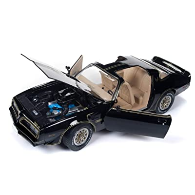 1977 Pontiac Firebird Trans Am Special Edition Black Hemmings Muscle Machines Cover Car Ltd Ed 1002 pcs 1/18 Diecast Model Car by Autoworld AMM1177: Automotive