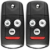 KeylessOption Keyless Entry Remote Fob Car Ignition Flip Key for Acura MDX, RDX, N5F0602A1A (Pack of 2)