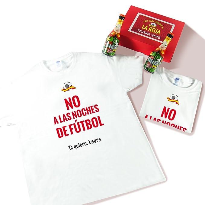 Pack de Dos Camisetas Personalizadas con Frase No a Las Noches de Fútbol +