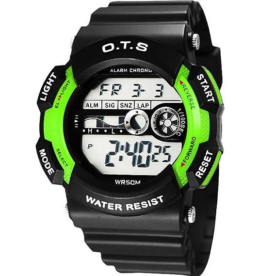 Top Niños calidad Relojes Otis Deportes al aire libre digital multifunción muchacha de los niños en primaria Bai Mei: Amazon.es: Relojes