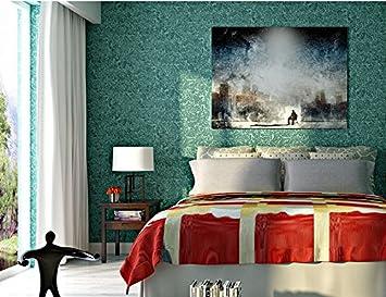 Modernes schlafzimmer blau  VanMe 3D-Kieselalgen Schleim Einfache Vliestapeten Blau-Grüne ...