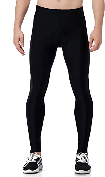 Unisex Stretch Bike Leggings Pants Workout Trousers Yoga Fitness Soft Gel Shorts
