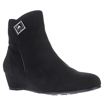 Impo Giovanna Wedge Ankle Booties - Black, 8.5 US | Ankle & Bootie