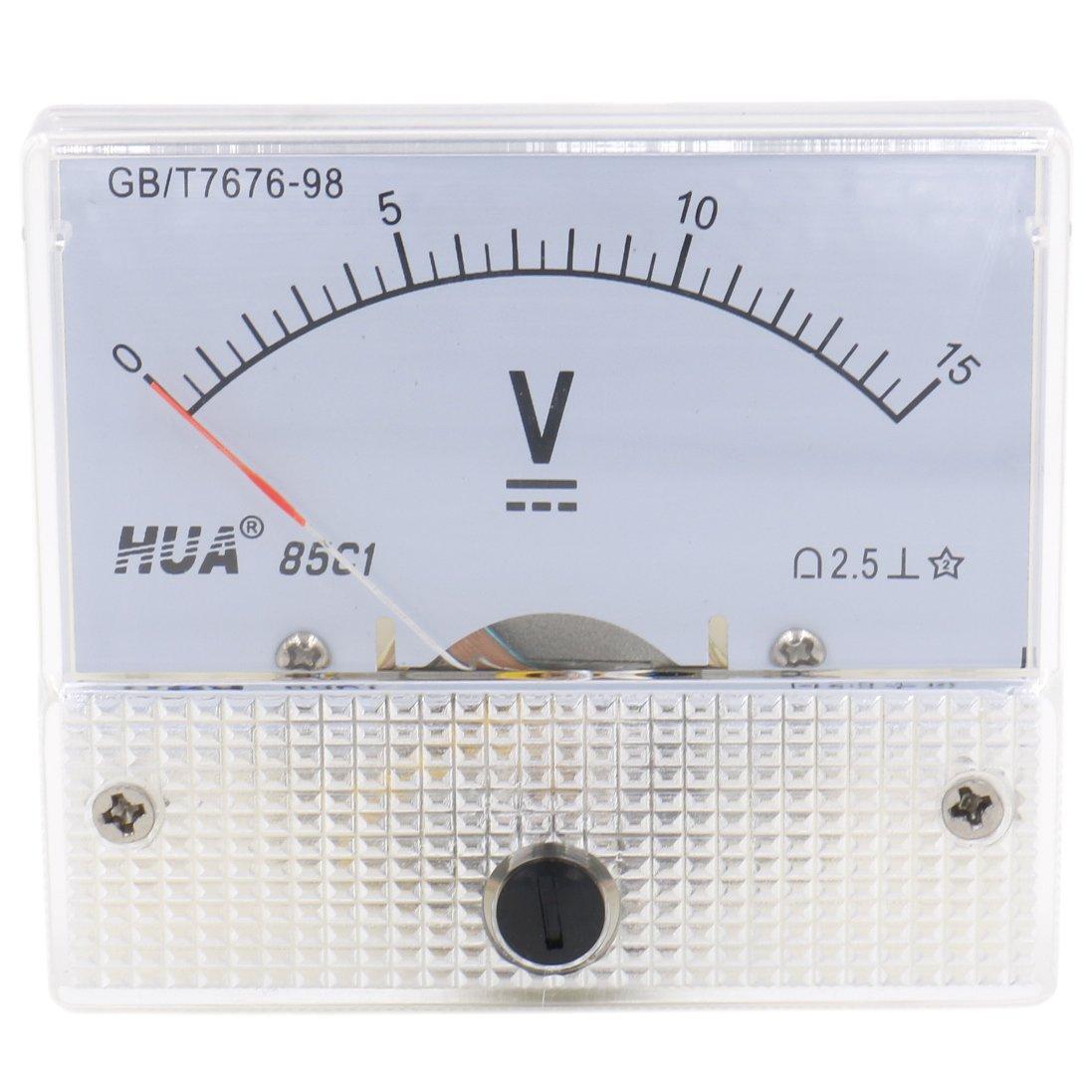 /15/V Clase 2,5/color blanco /15/V Rect/ángulo Panel Mounted comprobador de medidor de voltaje volt/ímetro DC 0/ heschen 85/C1/