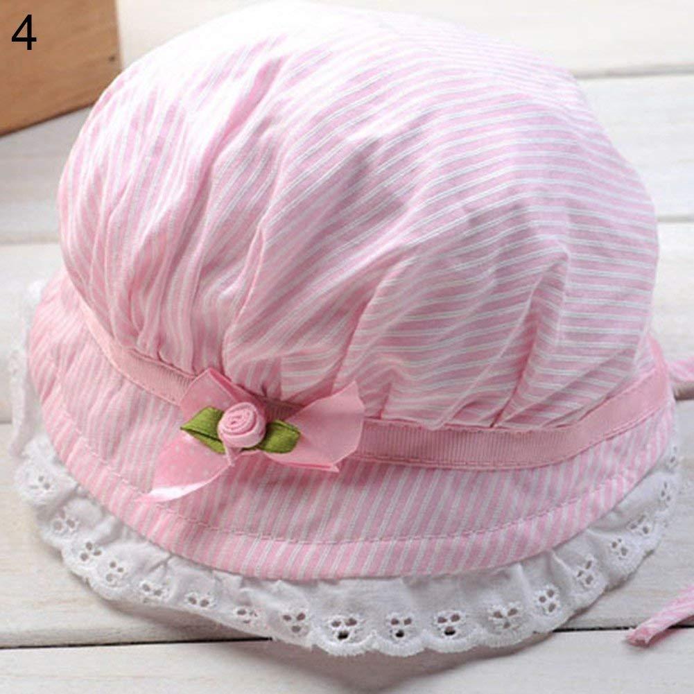 e65e6713028 Amazon.com  wintefei Toddler Infant Baby Girls Outdoor Flower Bucket Hat  Summer Sun Beach Beanie Cap - Pink  Clothing