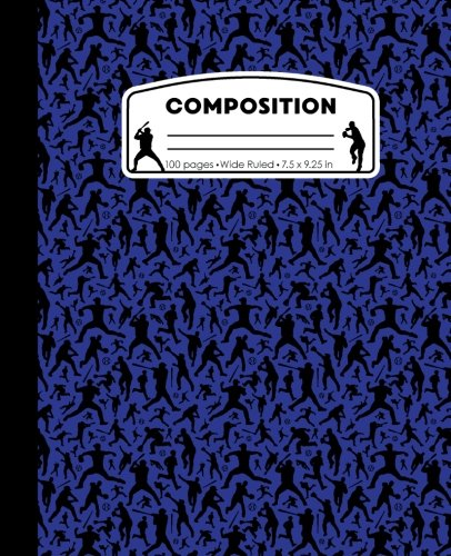 - Composition: Baseball Blue Marble Composition Notebook. Ball Player Wide Ruled Book 7.5 x 9.25 in, 100 pages, journal for girls boys, kids, elementary ... teachers (Baseball Marble Composition Books)
