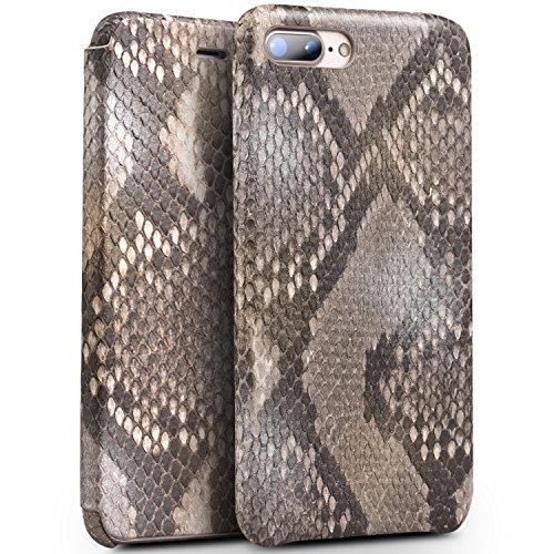 iPhone 8 Plus Case, iPhone 7 Plus Case, QIALINO Unique Style Genuine Leather Cover Flip Sleeve for Apple iPhone 8Plus / 7Plus by QIALINO (Image #1)