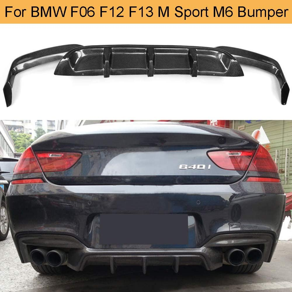 Lsybb Carbon Diffusor Heck Diffusor Lip M Sport Stoßstange Für Bmw 6er F06 F12 F13 M6 Cabrio 640i 650i 2012 2016 Auto