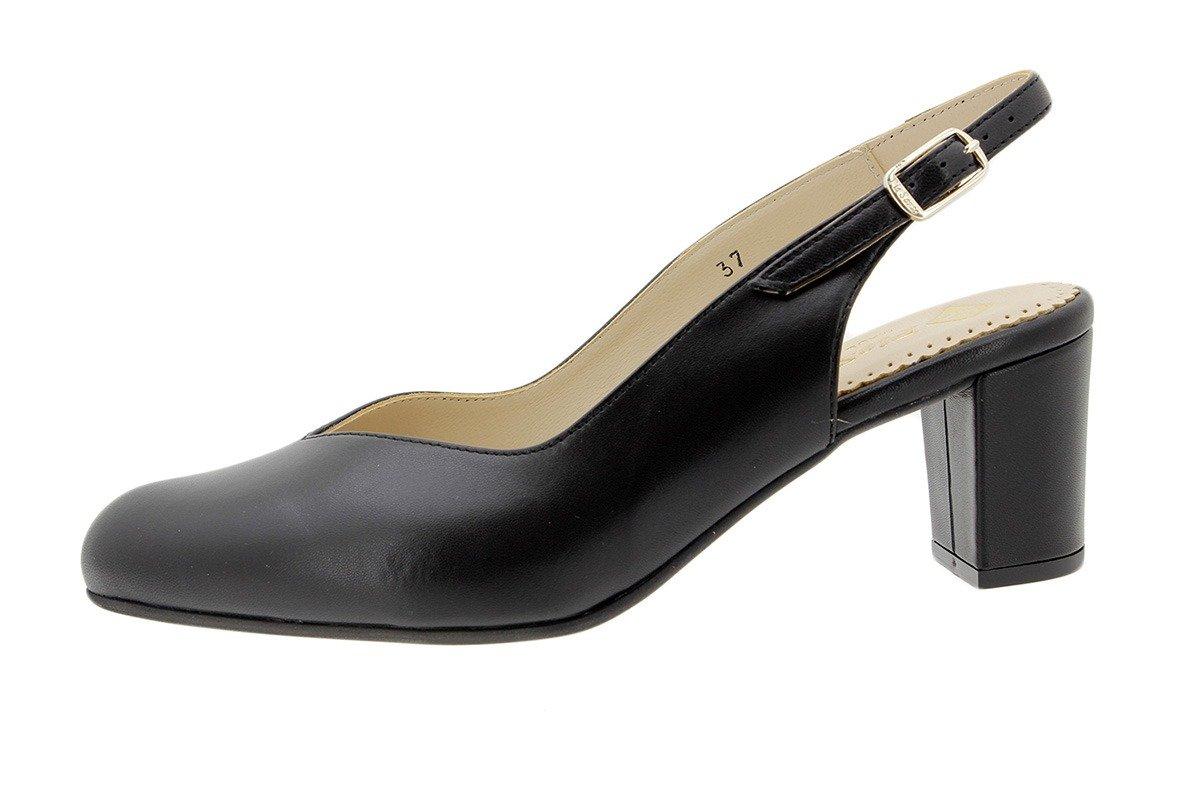PieSanto Salón Grabado Nude 180229 Zapato Confort 37 EU|Piel Negro