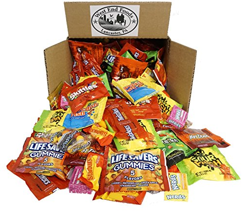 Assortment of Favorite Candy with Skittles, Swedish, Nerds, Sour Patch, Life savers, Starburst, Twizzlers (5 lbs) Bulk of Snacks. Perfect for a Tea Party, Candy Buffet, Easter Gift Baskets Stuffers -