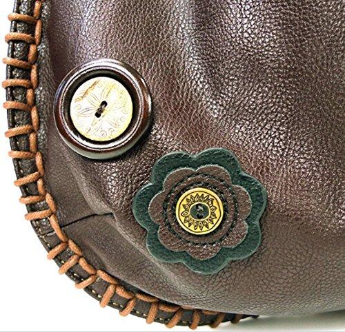 Convertible Handbag Bag Chala Cat Purse Fat Cross Hobo Body Chocolate nTX5q5Fw