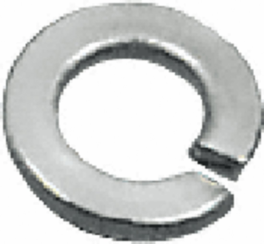 CRL Stainless 3/8'-16 Lock Washers for 1-1/2' and 2' Diameter Standoffs Pack of 10 by CR Laurence