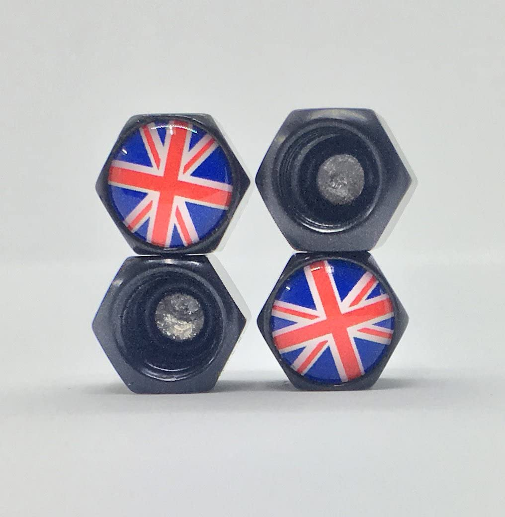 Mini Cooper Union Jack Tire Valve Stem Caps Keychain Combo Set Accessories Decal Parts