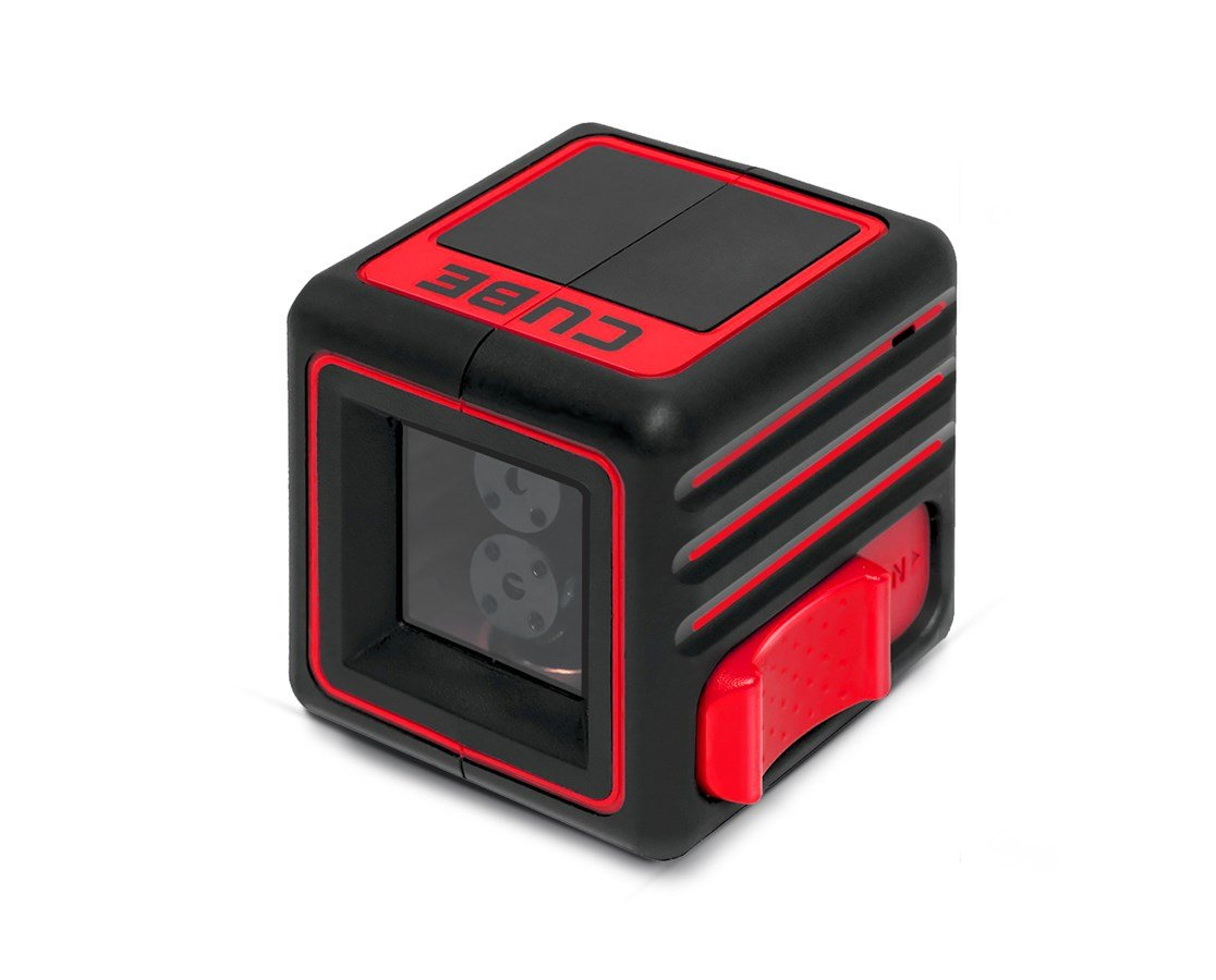 AdirPro Cube Cross Line Laser Level Home, Red/Black
