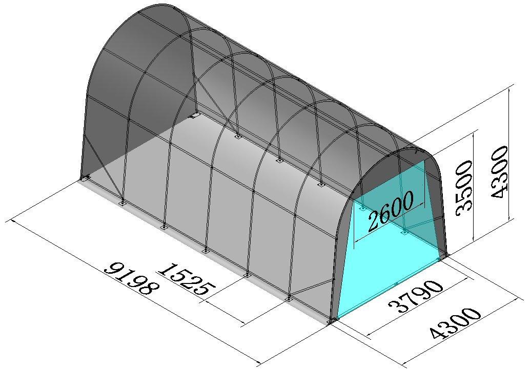 RV Carport Storage Shelter Tent 14' x 30' 22oz Fabric Galvanized Steel Pipes 14' Height
