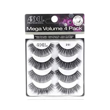d28027cddc3 Image Unavailable. Image not available for. Color: ARDELL Mega Volume 251  Eye Lashes, Pack of 4