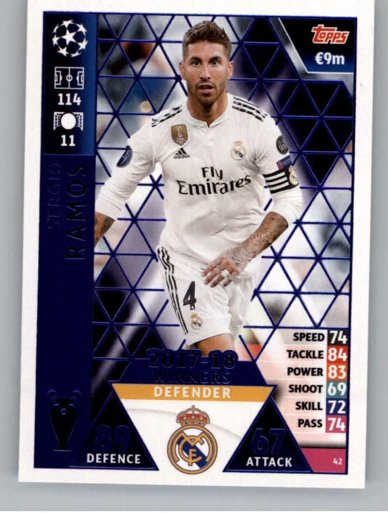 SERGIO RAMOS Real Madrid Match Attax EXTRA Ligue des Champions 19//20