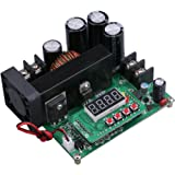 Yeeco Numerical Control Voltage Regulator DC Boost Converter Constant Voltage Current Step Up Module Adjustable 8-60V to 10-120V 15A Output 48V 24V 12V with LED Display & Heatsink Fan