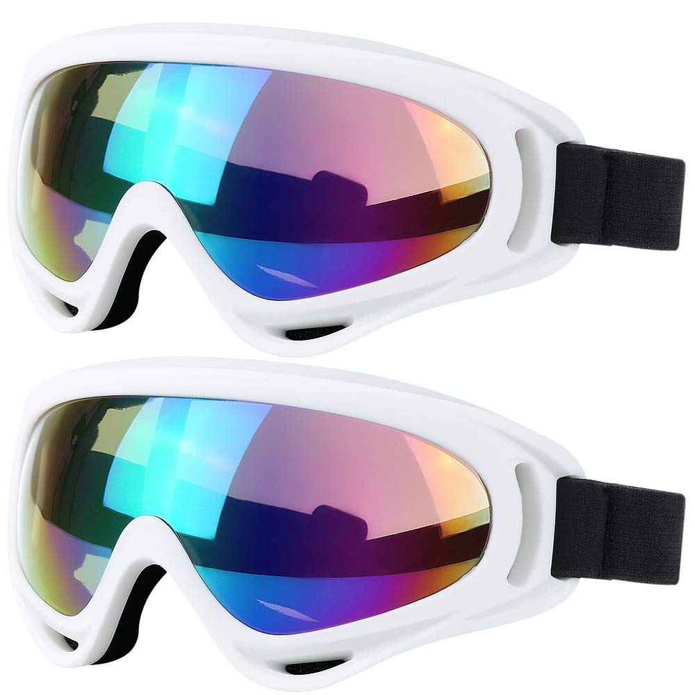 Anti-Glare Lenses Chalife Youth Wind Resistance Ski Goggles Boys /& Girls Motorcycle Cycling Goggles for Kids Men /& Women 2 Pack Snowboard Goggles Skate Glasses with UV 400 Protection
