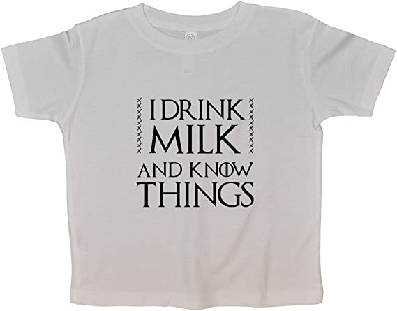 Kids Game of Thrones Breast Feeding Onesie I Drink Milk and Know Things