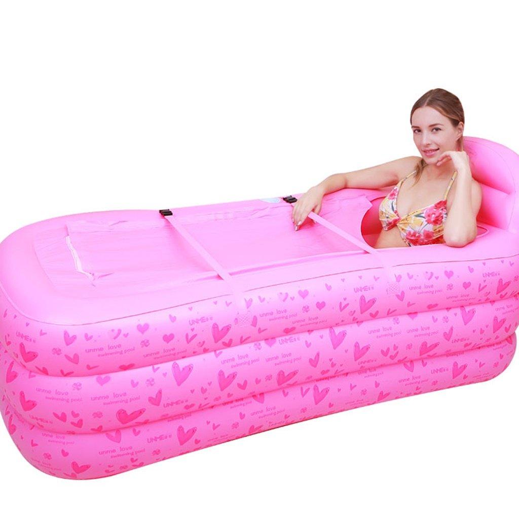 LQQGXL,Bath SPA Inflatable Bathtub Adult Bath Tub Slim Thickening Insulation Bath Tub Folding Bathtub Bathtub Inflatable bathtub