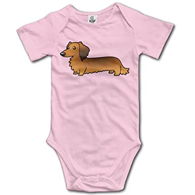 855321f6a onlyou Long Haired Dachshund Cartoon Newborn Cute Baby Onesie Outfits -  Black -: Amazon.co.uk: Clothing