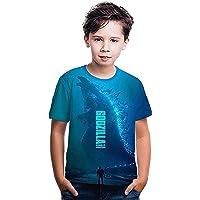 Ms.Feiya Niños Camisa de Monstruo de Dibujos Animados Camiseta para niños Camisa de impresión 3D para niño niña Verano…
