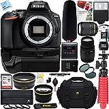 Nikon D5600 Digital SLR Camera + AF-S 18-140mm VR & Sigma 70-300mm Macro Dual Lens Tascam Video Creator Bundle