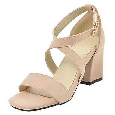 RAZAMAZA Damen Sandaletten Blockabsatz Sandalen Sommer