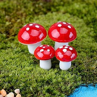 discountstore145 20 Pcs Miniature Mushroom DIY Craft Garden Pot Ornament Gardening Mini Decor Accessries : Industrial & Scientific