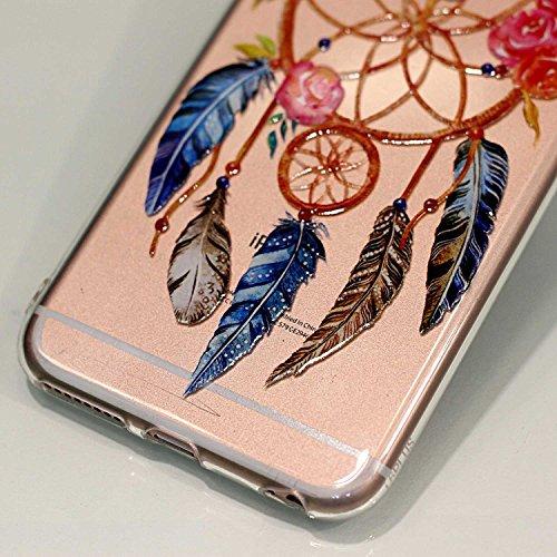 iPhone 6 6S Hülle , Leiai Modisch Windmühle TPU Transparent Clear Weich Tasche Schutzhülle Silikon Handyhülle Stoßdämpfende Schale Fall Case Shell für Apple iPhone 6 6S