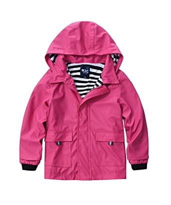 1b3ea7ee3 Amazon.com  M2C Boys   Girls Hooded Waterproof Rain Jacket Cotton ...