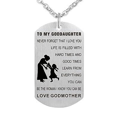 Amazon.com: Kisseason to My Godson Goddaughter - Collar con ...