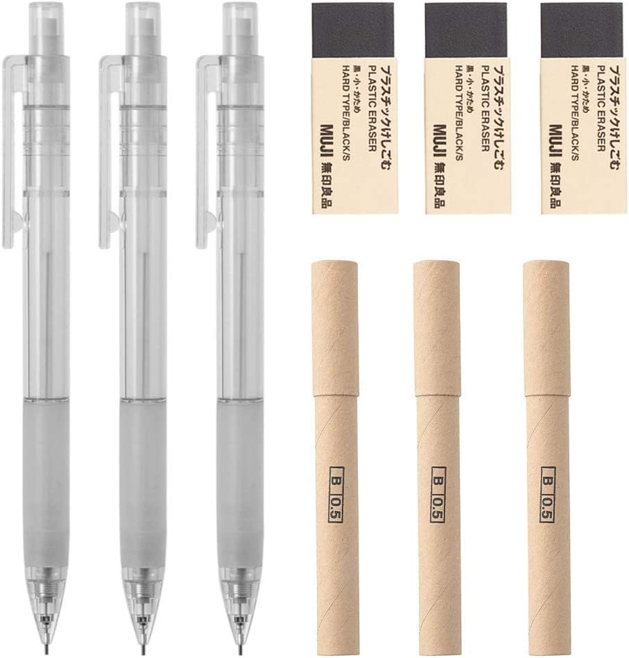 0.5mm HB Smooth 40Pieces Japan Import Moma Muji Pencil Lead Refill
