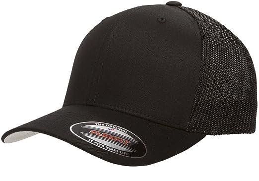 panel trucker baseball cap black flexfit caps online uk flex fit sports