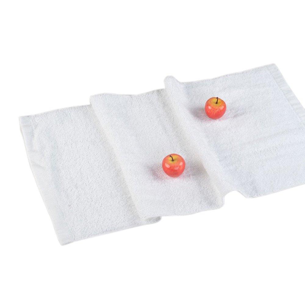 Shmei Soft Cotton 3272cm Hotel Bath Towel Washcloths Hand Towels White Water Absorption Hotel White Towel