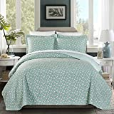 French Impression Brooklyn 100 Cotton Pre-Washed Reversible 3 Piece Quilt Set 3 Piece King